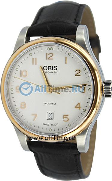 Мужские швейцарские механические наручные часы Oris 733-7594-43-91LS