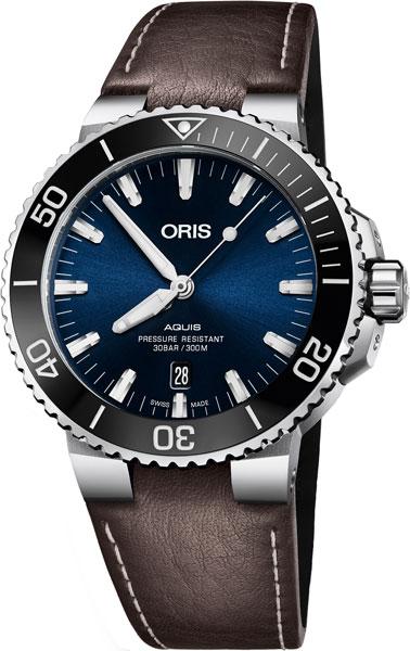 Мужские швейцарские механические наручные часы Oris 733-7730-41-35LS