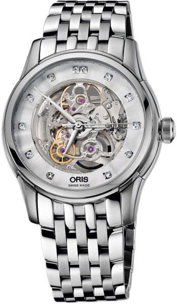Женские швейцарские механические наручные часы Oris 734-7670-40-19MB