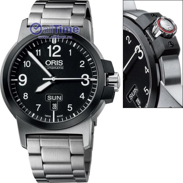 Мужские швейцарские механические наручные часы Oris 735-7641-43-64MB