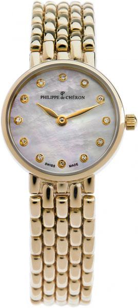 Фото - Женские часы Philippe de Cheron 5001.1218N cветильник галогенный de fran встраиваемый 1х50вт mr16 ip20 зел античное золото