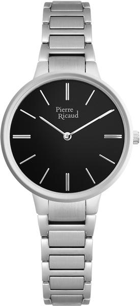 Женские часы Pierre Ricaud P22034.5114Q hand around черный стальной браслет