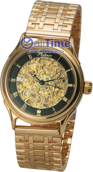 Мужские наручные золотые часы Platinor