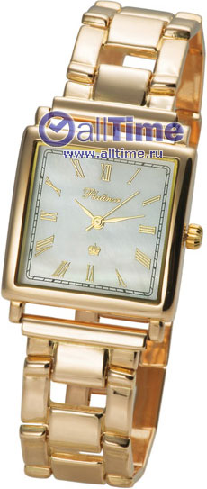 Купить Наручные часы Rt57550.315_2  Мужские наручные золотые часы в коллекции Square Platinor
