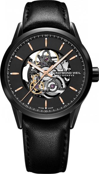 Мужские швейцарские механические наручные часы Raymond Weil 2715-BKC-20021