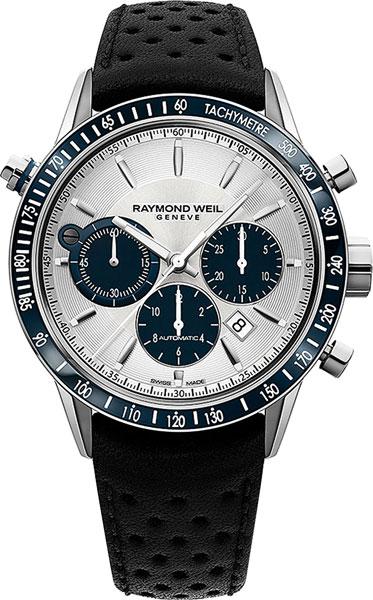 Мужские швейцарские механические наручные часы Raymond Weil 7740-SC3-65521 с хронографом