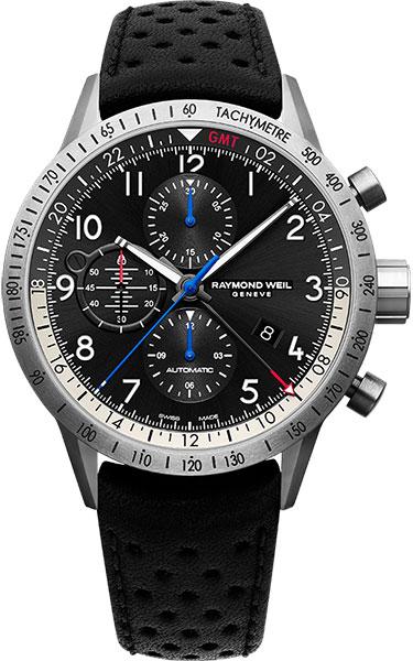 Мужские швейцарские механические титановые наручные часы Raymond Weil 7754-TIC-05209 с хронографом