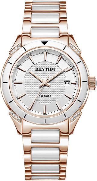 цена Женские часы Rhythm F1207T06 онлайн в 2017 году