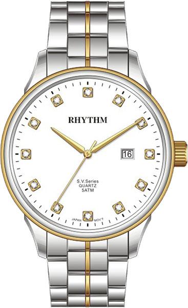 Женские часы Rhythm GS1607S03 moon paris серьги с кристаллами и с гематитом с серебрением mok 1607 061