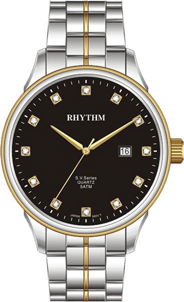 Женские часы Rhythm GS1607S04 moon paris серьги с кристаллами и с гематитом с серебрением mok 1607 061