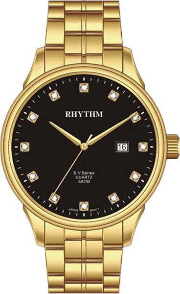 Женские часы Rhythm GS1607S07 moon paris серьги с кристаллами и с гематитом с серебрением mok 1607 061