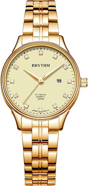 Женские часы Rhythm GS1607S08 moon paris серьги с кристаллами и с гематитом с серебрением mok 1607 061