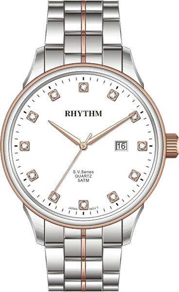 Женские часы Rhythm GS1607S09 moon paris серьги с кристаллами и с гематитом с серебрением mok 1607 061