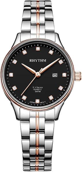 Женские часы Rhythm GS1607S10 moon paris серьги с кристаллами и с гематитом с серебрением mok 1607 061