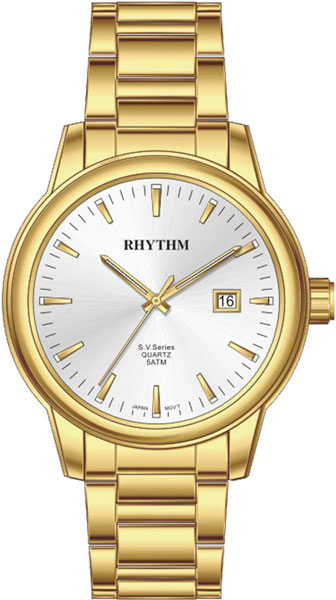 Женские часы Rhythm GS1610S06 42mm parnis white black dial sapphire glass miyota 8215 automatic mens watch 423