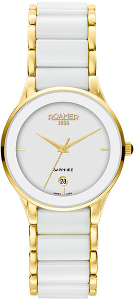 Женские часы Roamer 677.981.48.25.60 44mm parnis 316l stainless steel screw pvd case fit 6498 6497 movement