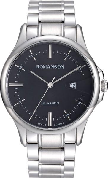 лучшая цена Мужские часы Romanson CA5A10MMW(BK)