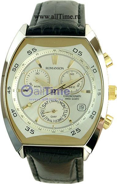 цена Мужские часы Romanson DL4141HMC(WH)