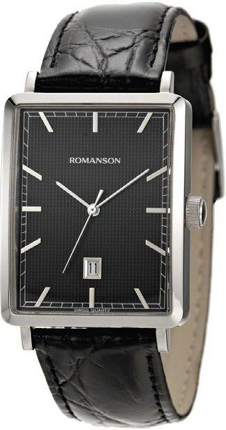 Мужские часы Romanson DL5163SMW(BK) romanson часы romanson dl5163smw gd коллекция modish