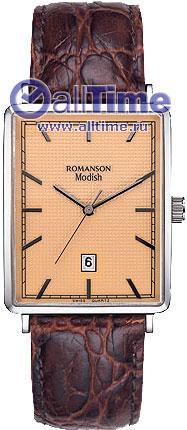 Мужские часы Romanson DL5163SMW(RG) romanson romanson dl 5163s lw rg