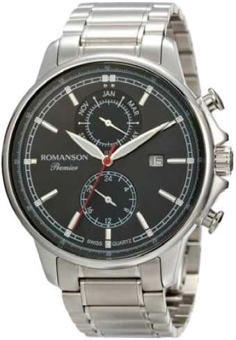 Фото - Мужские часы Romanson PA3251FMW(BK) бензиновая виброплита калибр бвп 13 5500в