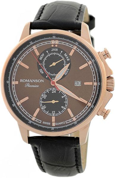 Мужские часы в коллекции Premier Мужские часы Romanson PB3251FMR(BR)BK фото
