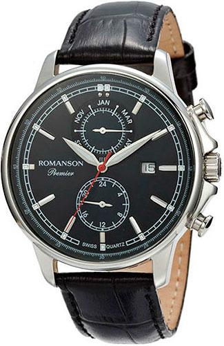 Мужские часы Romanson PB3251FMW(BK)BK romanson romanson tl 2654 mr bk d bn