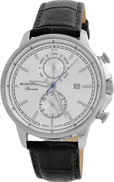 Мужские часы Romanson PB3251FMW(WH)BK romanson tl 1272j mg wh bk