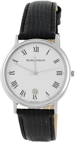 Мужские часы Romanson TL0162SMW(WH) romanson часы romanson tm7266mj wh коллекция adel