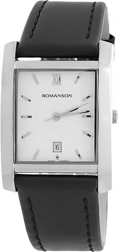 Мужские часы Romanson TL0226SXW(WH) romanson часы romanson tl0226sxw wh коллекция leather
