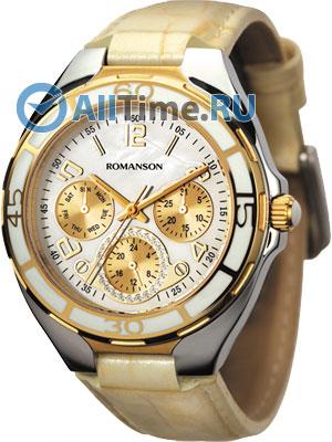 Женские часы Romanson RL0357UUC(WH) romanson часы romanson rm5113qlc wh коллекция giselle