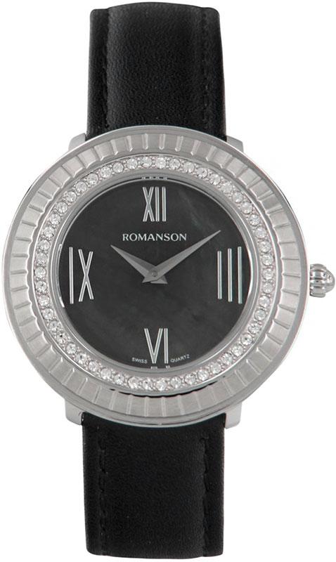 цена Женские часы Romanson RL0385TLW(BK) онлайн в 2017 году