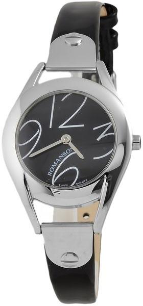 Женские часы Romanson RL1221LW(BK) romanson rm 6a31c lw wh