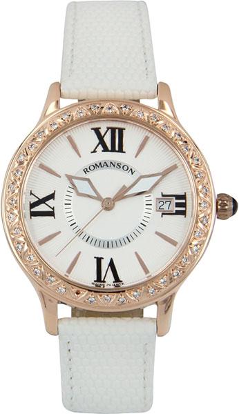 Женские часы Romanson RL1222QLR(WH)WH romanson tm 9248 mj wh