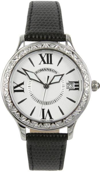 Женские часы Romanson RL1222QLW(WH)BK romanson rl 0358q lg wh
