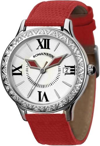 Женские часы Romanson RL1222QLW(WH)RED