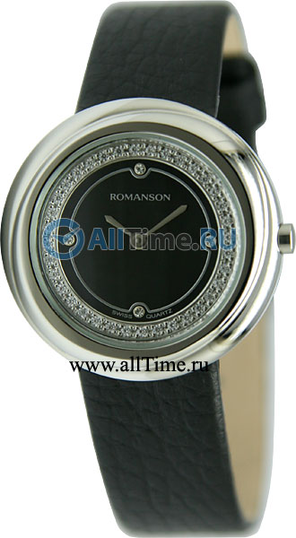 Женские часы Romanson RL1251QLW(BK) romanson rl1251qlw bk