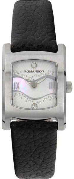 Женские часы Romanson RL1254LW(WH)BK romanson rl 1253q lw wh bk