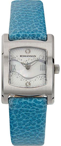 Женские часы Romanson RL1254LW(WH)BU romanson rl 6a18q lw wh wh