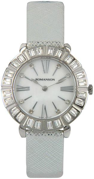 Женские часы Romanson RL1255TLW(WH)BK romanson rl 1253q lw wh bk