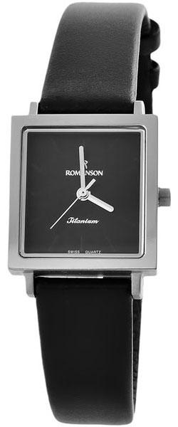 Женские часы Romanson DL2133SLW(BK) женские часы romanson dl2133slw wh