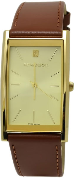 Мужские часы Romanson DL2158CMG(GD) romanson часы romanson dl5163smw gd коллекция modish