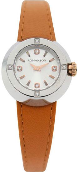 Женские часы Romanson RL2611QLJ(WH)TAN romanson rl 1253b lg wh tan