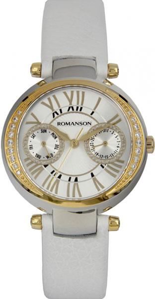 Женские часы Romanson RL2612QLC(WH)WH romanson rl 0358q lg wh