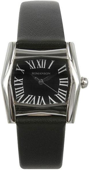 Женские часы Romanson RL2623LW(BK)BK-ucenka romanson rl 2623 lj wh cl
