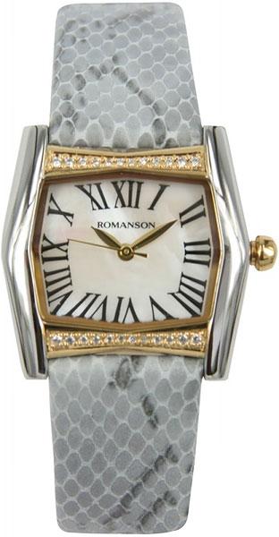 цена Женские часы Romanson RL2623QLC(WH)GR онлайн в 2017 году