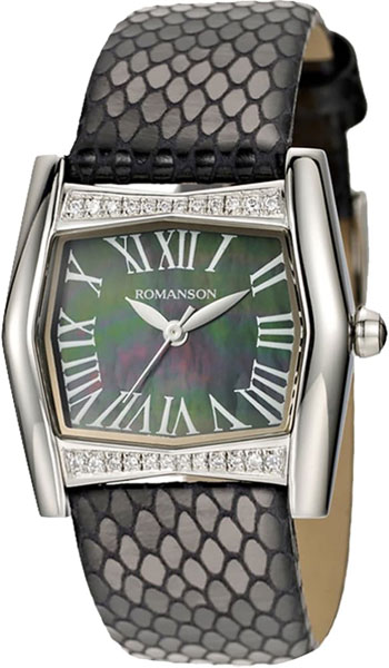 Фото - Женские часы Romanson RL2623QLW(BK)BK женские часы romanson dl5163slw bk