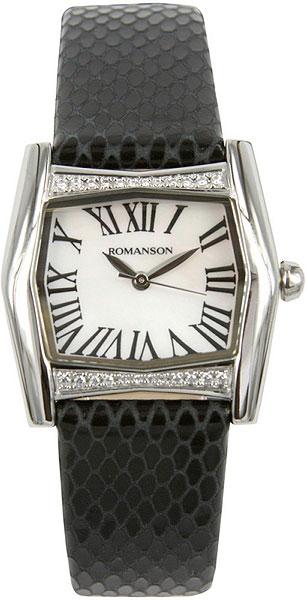 Женские часы Romanson RL2623QLW(WH)BK romanson rl 1253q lw wh bk