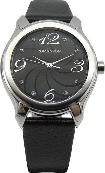 Женские часы Romanson RL3214LW(BK)BK romanson rm 6a31l lw wh
