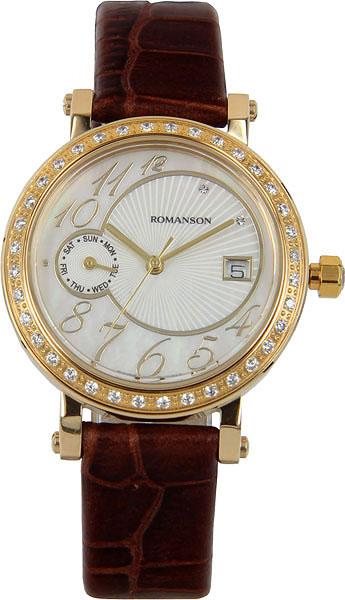 лучшая цена Женские часы Romanson RL3221QLG(WH)BN